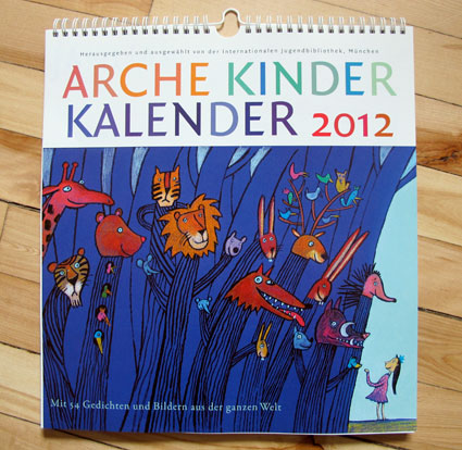 Illsutrations Viriginie Egger - Calendrier de la bibliothèque jeunesse de Munich