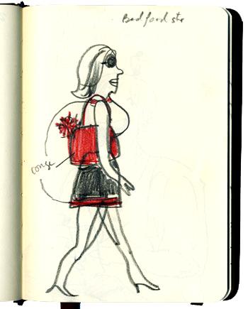 Virginie Egger - illustrations - Croquis à NewYork