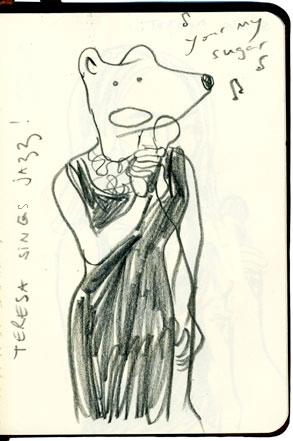 Viriginie Egger - illustrations - Jazz signer in NewYork